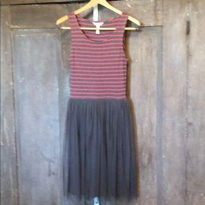 Matilda Jane | 'Twas the Night Gray striped dress
